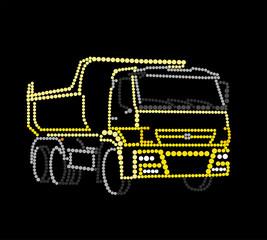 Yellow truck dump truck