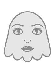 frau weiblich gesicht hübsch mädchen geist lachen süß niedlich frech comic cartoon clipart spuken horror monster grusel halloween