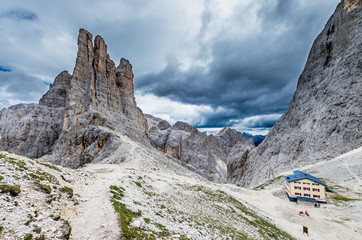 Beautiful view in Dolomites mountains, Alto Adige, South Tyrol, Italy