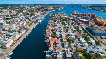 Aerial view of Haugesund, Norway.