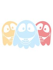 3 freunde team crew party geist lachen süß niedlich frech comic cartoon clipart spuken horror monster grusel halloween