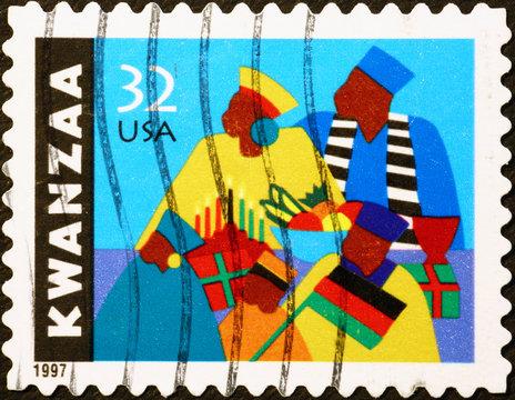 American postage stamp celebrating Kwanzaa