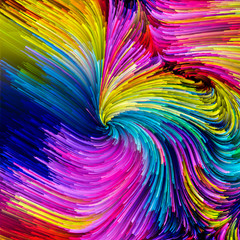 Colorful Paint Particles