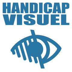 Logo handicap visuel.