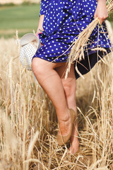 legs of young beautiful brunette girl