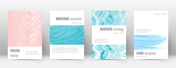 Cover page design template. Minimalistic brochure layout. Brilliant trendy abstract cover page.