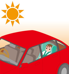熱中症の危険。 赤ちゃんの車内閉じ込め。