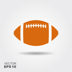 Soccer ball. Flat vector icon