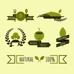 Natural and organic logo.Ecology concept.Vector illustration