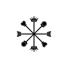 8 directions of chess compass logo.