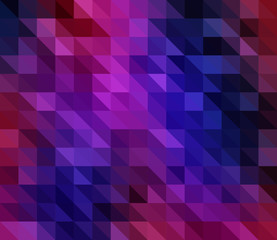 Purple-Blue Triangles Vector Mosaic