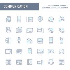 Communication Vector Icon Set (EPS 10)