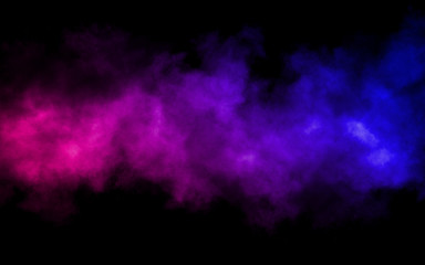 colorful smoke on a black background. Abstract background