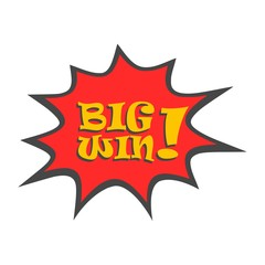 Big win message