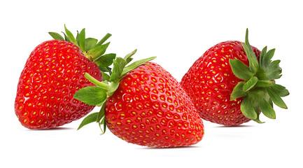 Leinwandbilder - Strawberry isolated on white background