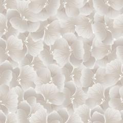 Silver flower print. Vintage Floral Pattern. Trendy seamless background. Fashion Texture. Monochrome wallpaper. Vector illustration.