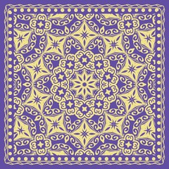 vector illustration. pattern with floral mandala, decorative border.