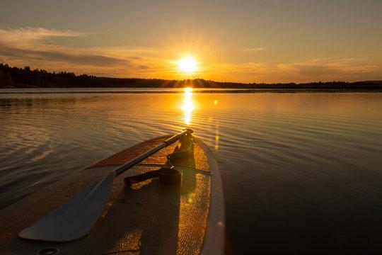 Midnight sun SUP safari
