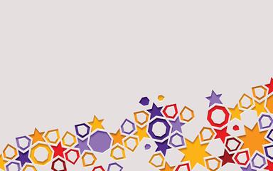 Arabic arabesque design greeting card for Ramadan Kareem. Islamic ornamental colorful detail of mosaic.Vector illustration.