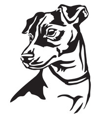 Decorative portrait of Dog Jack Russell Terrier vector illustration