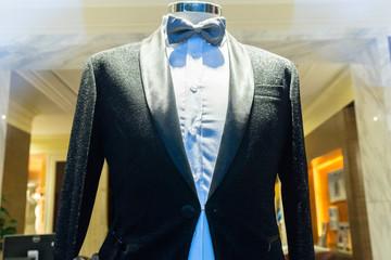 luxury suit in shop