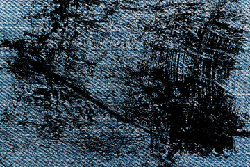 Dirty grunge Jeans blue macro texture for denim background.