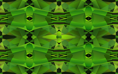 Seamless pattern with green crystal texture