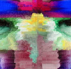 Attractive multi-colored abstraction. Graphic arts and art
