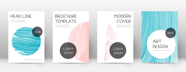 Cover page design template. Trendy brochure layout. Classic trendy abstract cover page.