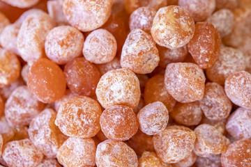 Dried kumquats Sweet background