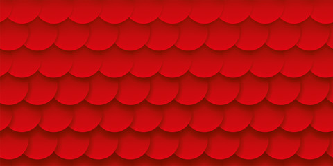 Scales red background, volume pattern, abstract vector backdrop
