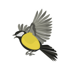 Flying tit high quality color icon