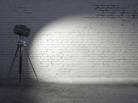 Studio empty brick wall
