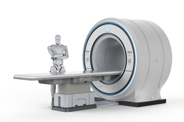 robot with mri scan