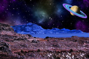 on an alien planet