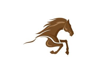 Horse Logo Design Illustration
