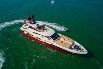 Aerial image of motoryacht Golden Touch II in Miami
