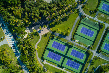 Aerial image of tennis courts