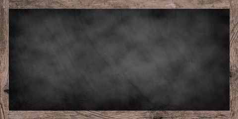 vintage chalk board texture with old vintage wooden frame.use for work about design,decorate