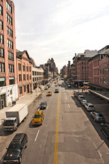 Staße im Meatpacking _District, Manhattan, New York City, New York, Vereinigte Staaten von Amerika, USA
