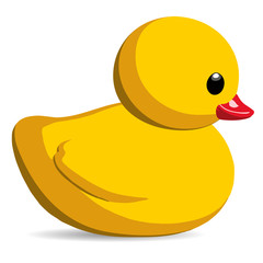 Rubber Duck Toy Vector Illustration