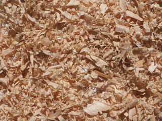 Fotobehang Kranten Sawdust wood dust