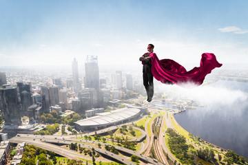 Super man in sky
