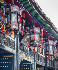 Pingyao Ancient City architecture and ornaments, Shanxi, China