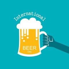International Beer Day with beer mugs