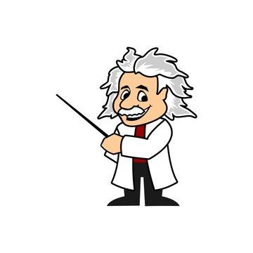 Cartoon Professor vector template
