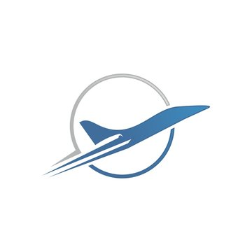 private jet plane logo template