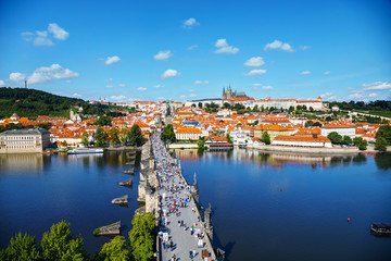 Acrylic Prints Prague Aerial overview of Prague
