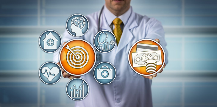 Doctor Presenting Value-Based Healthcare Model