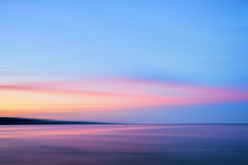 Pink and blue sunset at Lake Superior Duluth